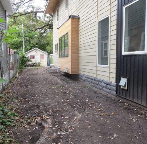 Site before boardwalk and raingarden