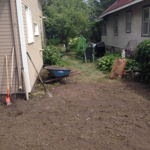 South yard, Before