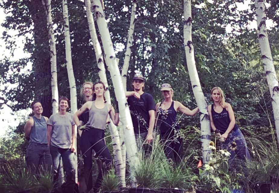 Photo: Lightdark 2018 Crew standing among birch trees